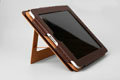 iPad Bracket Leather Case Two stalls Support Case Maroon
