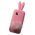 Rabbit Ears Silicone Case For Nokia C5-03 - pink