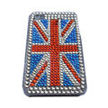 British flag bling crystal Hard Cases Covers for iPhone 4G - Red