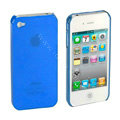 Transparency shell Hard Back Cases Covers for iPhone 4G - Blue