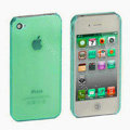 Transparency shell Hard Back Cases Covers for iPhone 4G - Green