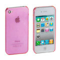 Transparency shell Hard Back Cases Covers for iPhone 4G - Pink