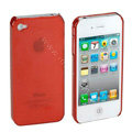 Transparency shell Hard Back Cases Covers for iPhone 4G - Red