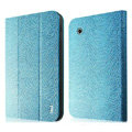 IMAK Slim leather Cases Luxury Holster Covers for Samsung Galaxy Tab2 P6200 P3110 P3100 - Blue