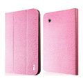 IMAK Slim leather Cases Luxury Holster Covers for Samsung Galaxy Tab2 P6200 P3110 P3100 - Pink