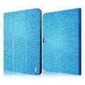IMAK Slim leather Cases Luxury Holster Covers for Samsung N8000 GALAXY Note 10.1 - Blue