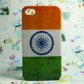 Retro India flag Hard Back Cases Covers for iPhone 4G/4GS