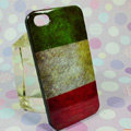 Retro Italy flag Hard Back Cases Covers for iPhone 4G/4GS