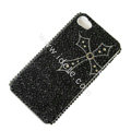 Bling S-warovski crystal cases Cross diamond covers for iPhone 6 - Black