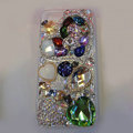 Bling S-warovski crystal cases Heart diamond cover for iPhone 6 - Green