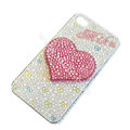 Bling S-warovski crystal cases Love Heart diamond covers for iPhone 6 - White