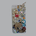 Bling S-warovski crystal cases Panda diamond cover for iPhone 6 - Gold