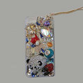 Bling S-warovski crystal cases Panda diamond cover for iPhone 6 - White
