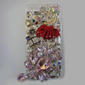 Bling S-warovski crystal cases Red Ballet girl diamond cover for iPhone 6 - Pink