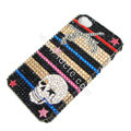 Bling S-warovski crystal cases Skull diamond covers for iPhone 6 - Black