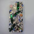 S-warovski crystal cases Bling Panda diamond cover for iPhone 6 - Green