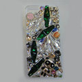 S-warovski crystal cases Bling Panda diamond cover skin for iPhone 6 - Green