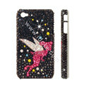 Bling S-warovski crystal cases Angel diamond covers for iPhone 6 Plus - Black