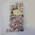 Bling S-warovski crystal cases Ballet girl diamond cover for iPhone 6 Plus - Pink