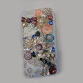 Bling S-warovski crystal cases Beetle Butterfly diamond cover for iPhone 6 Plus - White
