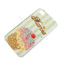 Bling S-warovski crystal cases Ice cream diamond covers for iPhone 6 Plus - Brown