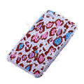 Bling S-warovski crystal cases Leopard diamond covers for iPhone 6 Plus - Red