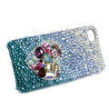 Bling S-warovski crystal cases Love heart diamond covers for iPhone 6 Plus - Blue