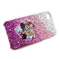 Bling S-warovski crystal cases Love heart diamond covers for iPhone 6 Plus - Purple