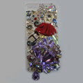 Bling S-warovski crystal cases Red Ballet girl diamond cover for iPhone 6 Plus - Purple