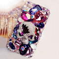 S-warovski Bling crystal Cases Skull Luxury diamond covers for iPhone 6 Plus - Purple