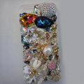 S-warovski crystal cases Bling Spider diamond cover for iPhone 6 Plus - White