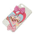 Bling S-warovski crystal cases Bowknot diamond covers for iPhone 7 - Rose
