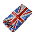 Bling S-warovski crystal cases Britain flag diamond covers for iPhone 7 - Blue