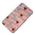 Bling S-warovski crystal cases Love diamond covers for iPhone 7 - Pink