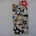 S-warovski crystal cases Bling Beetle diamond cover for iPhone 7 - Black+Red
