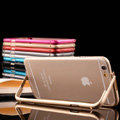 Unique Aluminum Bracket Bumper Frame Case Support Cover for iPhone 6 4.7 - Black