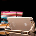 Unique Aluminum Bracket Bumper Frame Case Support Cover for iPhone 6 4.7 - Blue