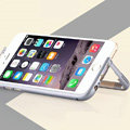 Unique Aluminum Bracket Bumper Frame Case Support Cover for iPhone 6 4.7 - Grey