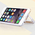 Unique Aluminum Bracket Bumper Frame Case Support Cover for iPhone 6 4.7 - Silver