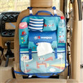 Cute Bears Fold Multi-function Car Seat Back Hanging Pocket Thermal Insulation Storage Bag - Blue