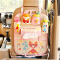 Fox Fold Multi-function Car Seat Back Hanging Pocket Thermal Insulation Storage Bag for Kid - Pink