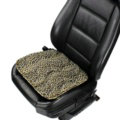 Leopard Print Plush Car Front Seat Cushion Woman Winter Universal Seat Pads 1pcs - Black Gold