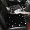 Winter Rhinestone Plush Car Front Seat Cushion For Woman Universal Auto Pads 1pcs - Black