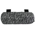 Zebra Print Plush Car Rear Seat Cushion Woman Winter Universal Seat Pads 1pcs - Black White