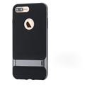 Rock Aluminum Bumper Frame Case for iPhone 8 Support Silicone Pack Cover - Gray