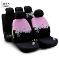 Butterflys Embroidered Car Seat Cover Women Universal Fit Most Vehicles Interior Accessories - Pink