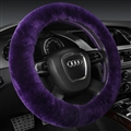 Classical Winter Wool Car Steering-wheel Cover Soft Fur Steering Wheel Cover Sheepskin - Purple