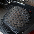 Diamond Studded Crystal Leather Car Front Seat Cushion Woman Universal Pads 1pcs - Black