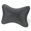 Gorgeous Pretty Bling Nice Women Rhinestone Plush Auto Seat Neck Pillows 1pcs - Silver