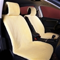 High Quality 1pcs Front Car Seat Covers Faux fur Cushion Interior Winter Plush Pad Imitation Wool - Beige